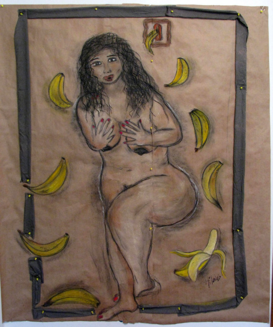 OMG! Bananas Bananas Bananas Mixed Media on Paper 155cmx130cm